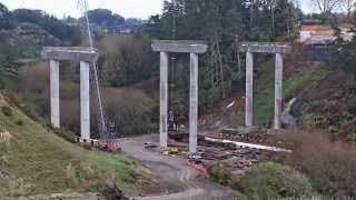 Download Karapiro Viaduct construction timelapse - August 2014 Video