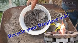 Download WOOD ASH Recycle your fire pit wood ash with this great tip Video