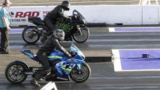 Download GSXR 1000 vs Kawasaki Ninja zx14 - drag race Video