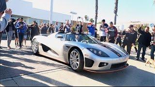 Download $5,000,000 Koenigsegg Shuts Down Car Meet! Video