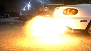 Download BIGGEST MIATA FLAMES EVER!!! Video