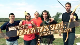 Download DUDE PERFECT   Archery Trick Shots: Closest To The Bullseye Video