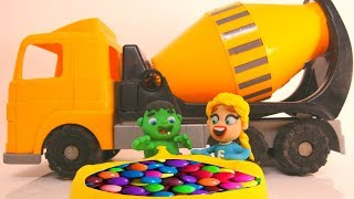 Download SUPERHERO BABIES & CEMENT MIXER SURPRISE ❤ Hulk & Frozen Elsa Play Doh Cartoons For Kids Video