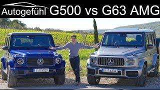 Download Mercedes G-Class G550 (500) vs G63 AMG FULL REVIEW comparison test GClass G-Klasse 2019 - Autogefühl Video
