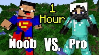 Download ONE HOUR of NOOB vs. Pro - Minecraft Video