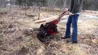 Download 1964 Gravely L8 with Sickle Bar mowing tall grass and saplings Video