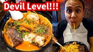 Download THE SPICIEST RAMEN in Tokyo at Karashibi Kikanbo - DEVIL LEVEL Japanese Food! Video