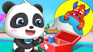 Download Help! Baby Panda's Leg Hurt | Kids Good Habits | Doctor Pretend Play | Toddler Song | BabyBus Video
