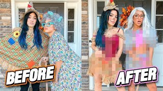 Download Making Ugly Halloween Costumes HOT Challenge (costume flip) Video