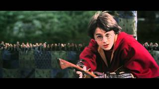 Download HARRY POTTER AND THE CHAMBER OF SECRETS - Harry Potter gets a rogue bludger during quidditch match Video