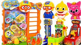 Download BabyShark VS Pororo! Confront the jumping Pororo! Who will win? | PinkyPopTOY Video