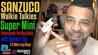 Download Sanzuco Super Mini Rechargeable Walkie Talkies 🔊 : LGTV Review Video