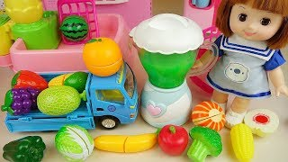 Download Baby Doli and fruit vegetable juice maker toys baby doll play Video