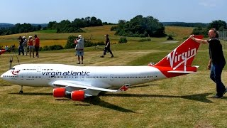 Download BOEING 747-400 VIRGIN ATLANTIC GIGANTIC RC AIRLINER MODEL JET FLIGHT / Airliner Meeting Airshow 2015 Video