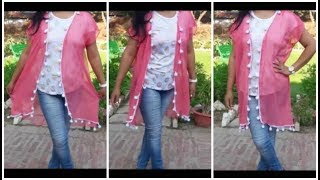 Convert Old Saree Into Long Gown Dress Diy Free Download Video Mp4