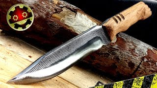 Download CUCHILLO CORTA TODO AFILADO / Con una LIMA Survival Bushcraft Video