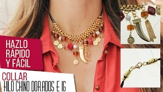 Download Collar dorado con IG e hilo chino | VARIEDADES CAROL Kit 26397 Video
