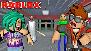Download TRAPPED INSIDE BALDI'S SCHOOLHOUSE WITH GRANNY IN ROBLOX! Video