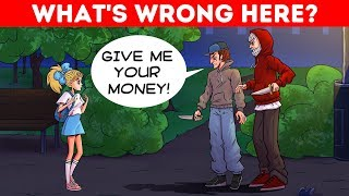 Download WHAT'S WRONG? ONLY A GENIUS WILL SPOT THE MISTAKE! HARD RIDDLES 😱 Video