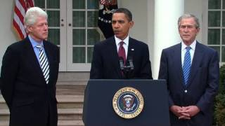 Download Presidents Obama, Bush, & Clinton: Help for Haiti Video