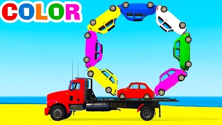 Download LEARN COLORS w Truck in Cars Cartoon for Children Learn Numbers & Spiderman Learning Video Video