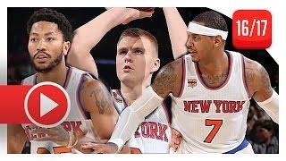 Download Carmelo Anthony, Derrick Rose & Kristaps Porzingis Highlights vs Grizzlies (2016.10.29) - 54 Pts Video