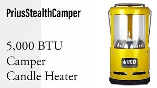 Download 5,000 BTU Candle Camper Heater - UCO Candlelier Lantern, Heat your camper: RV Van Car SUV. Video