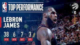 Download LeBron James' Dominant Performance & Buzzer Beater vs Toronto Video