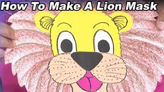 Download Creative Corner || How to Make a Lion Mask With Colour Paper Video