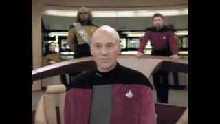 Download Picard owns Klingons as he asks for a favour, a cloaked vessel Video