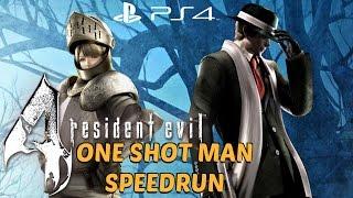 Download Resident Evil 4 (PS4) - ONE SHOT MAN Speedrun FULL GAME Walkthrough [1080P 60FPS] Video