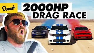 Download 2000 Horsepower Drag Race in the Desert | Donut Media Video
