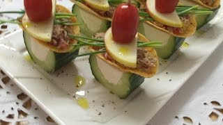 Download Fine Appetizers & Canapes Made From Cucumber and Tuna | How to Make Fine Canapes | By JustForFun Video