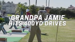 Download Grandpa Jamie Hits 400yd Drives Video