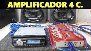 Download Como conectar un amplificador de 4 canales (a 4 bocinas ) Video