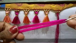 Download Latest Design of Saree Kuchu with Beads I साड़ी गोंडे मेकिंग I Ladies Club Video