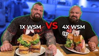 Download WORLD'S STRONGEST MEN VS 18LB SANDWICH Video