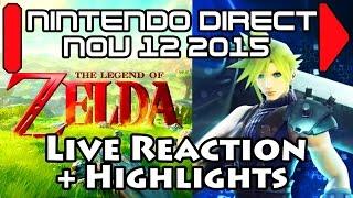 Download JustJesss Reacts & Highlights: Cloud in Smash! Twilight Princess HD! - Nintendo Direct Nov 2015 Video