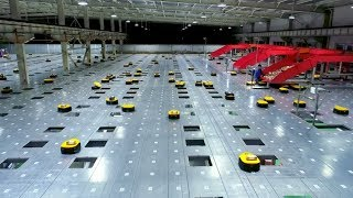 Download Watch an army of robots efficiently sorting hundreds of parcels per hour Video