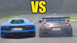 Download NISSAN GTR R35 vs LAMBORGHINI AVENTADOR 🚀*ACCELERATION SOUND*🚀 Video