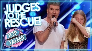 Download JUDGES TO THE RESCUE! Simon Cowell & Co Step In To SAVE AUDITIONS On GOT TALENT & X FACTOR Video