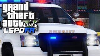 GTA 5 - LSPDFR Mod - On Patrol: Day 2 - OFFICER DOWN! (GTA 5 Police