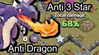 Download Clash of Clans - Town hall 8 (Th8) War Base Anti Dragon 3 stars + Epic Replay Video
