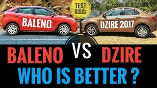 Download NEW MARUTI DZIRE 2017 VS MARUTI BALENO ( BEST COMPARISON ) Video