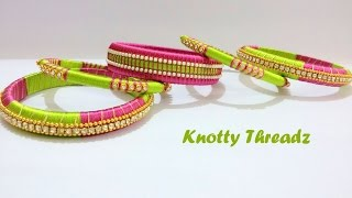 Download How to make a Designer Silk Thread Bangles Set at Home   Tutorial !! Video