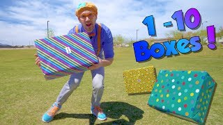 Download Blippi Teaches Numbers 1 to 10 for Children | Surprise Boxes! Video