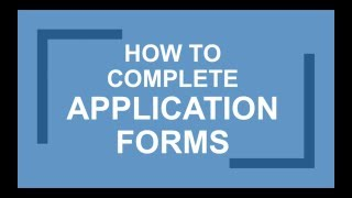 Download How to Fill in Job Application Forms - Career Help Video