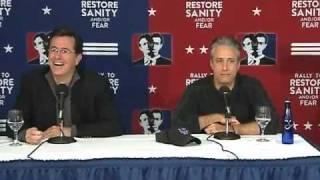 Download Jon Stewart & Stephen Colbert Sanity/Fear Press Conference Video