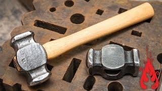 Download Blacksmithing - Forging a rounding hammer Video