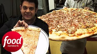 Download Adam Battles To Finish 30″ Big Pie In The Sky Pizza Challenge | Man v Food Video